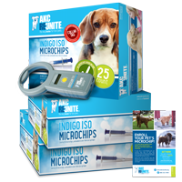 Pro Kit - Indigo ISO+ Microchips with Prepaid Enrollments and Tags