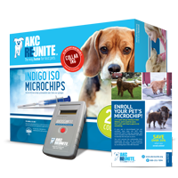 Puppy ID Kit - Indigo ISO+ Microchips with Tags
