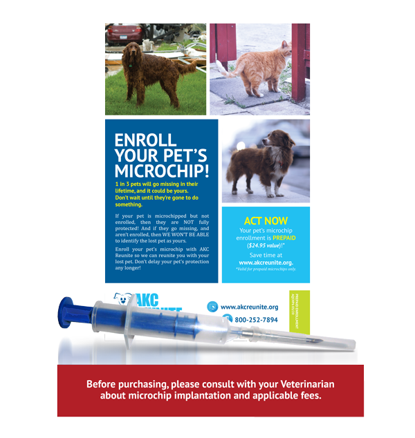 Single Indigo ISO+ Microchip with Prepaid Enrollment and Tag